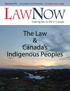 Cover: Law & Canada's Indigenous People