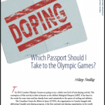 The Olympics and Doping