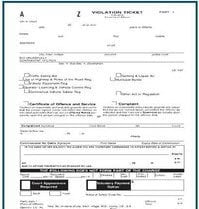 photo of a violation ticket