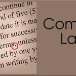 picture of text with comma circled in red. Title: Comma Law
