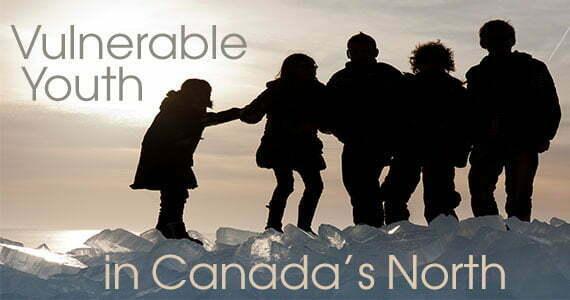 photo group of kids on ice hummocks