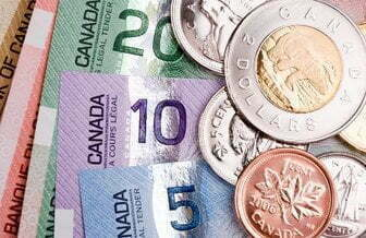 Photo of Canadian bills and coins