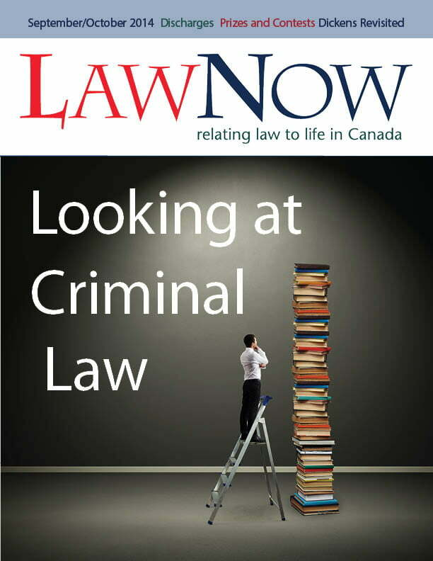 Cover for LawNow Volume 39 Number 1: Looking at Criminal Law
