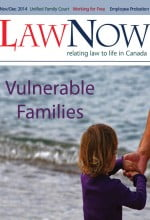 cover for LawNow Volume 39 Number 2: Vulnerable Families