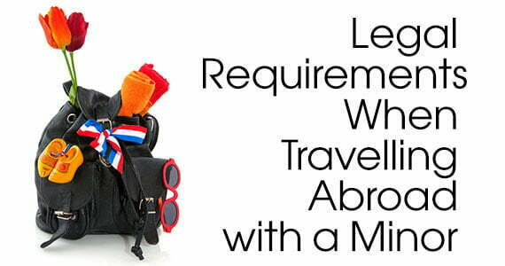 Legal requirements when travelling abroad with a minor lawnow photo of a backpack with colorful objects sticking out altavistaventures Choice Image