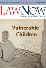 cover for LawNow Volume 39 Number 4: Vulnerable Children
