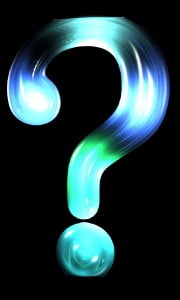 An illustration of a question mark with an icy appearance.