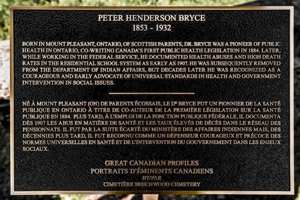 Beechwood Great Canadian Profile Plaque - Bryce