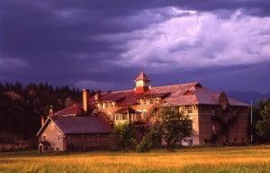 St Eugene Mission storm-cropped